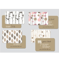 Business card template wedding style ill vector