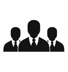 business group icon simple style vector image