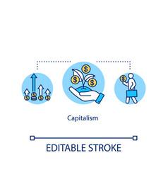 Capitalism concept icon economic and political vector