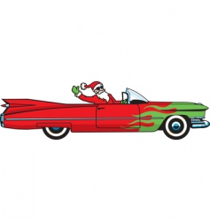 Christmas caddy vector