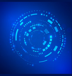 circle blue abstract technology background future vector image