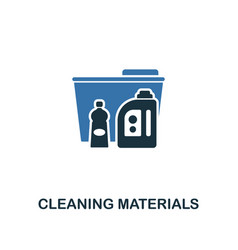 cleaning materials icon creative two colors vector image