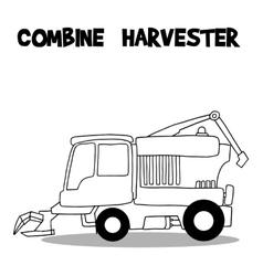 Combine harvester art vector