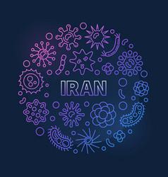 coronavirus in iran round linear colored vector image