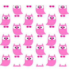 cute owls pattern vector image
