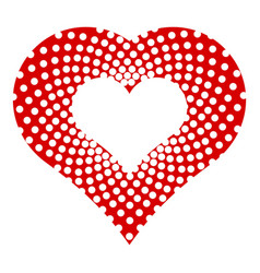 dotted heart icon simple style vector image
