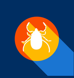 Dust mite sign white icon on vector