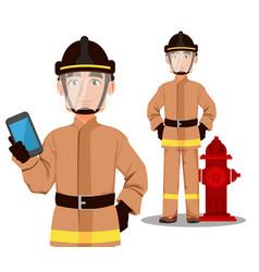 Fireman cartoon character vector