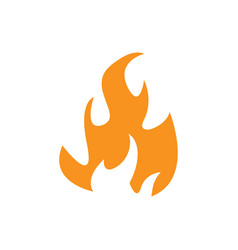 flame icon design template isolated vector image