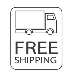 free shipping truck vector image
