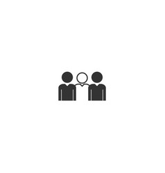 Group people icon flat vector
