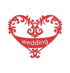 Heart for wedding vector