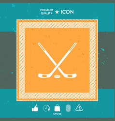 hockey symbol icon vector image