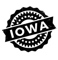 Iowa stamp rubber grunge vector