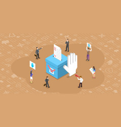 Isometric flat concept democratic vector
