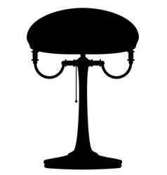 lamp retro vintage icon stock black vector image