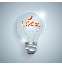 Lightbulb with idea sign on a light background vector