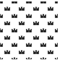 Medieval fortification pattern vector