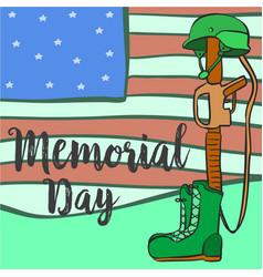 Memorial day collection stock card vector