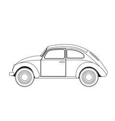 old car sketch vector image