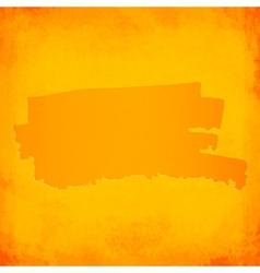 Orange brush spot on grunge background vector image