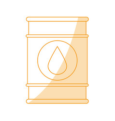 Orange silhouette shading barrel oil with vector