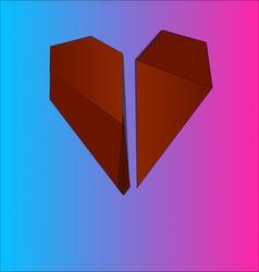 Origami heart vector