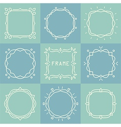 outline frames set vector image