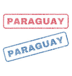 Paraguay textile stamps vector