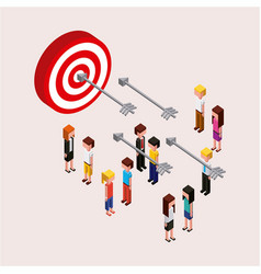 people characters target marketing business vector image