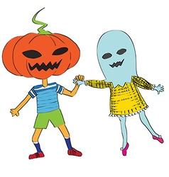 phantom an pumpkin vector image