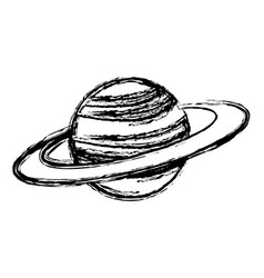Planet saturn with planetary ring system astronomy vector