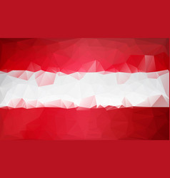 Polygonal background austria low poly flag vector