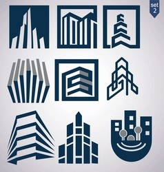 realty logo set 2 vector image