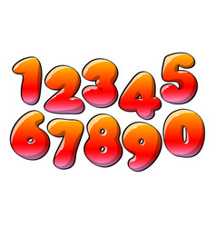 Red numerical digits vector