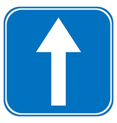 Road sign straight vector image