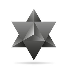 Sacred geometry merkaba thin line geometric vector
