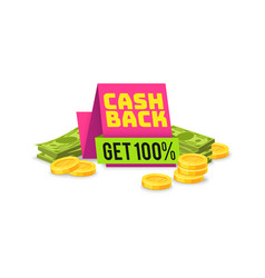 sale cashback tag money saving sign vector image