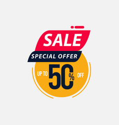Sale special offer up to 50 off limited time only vector