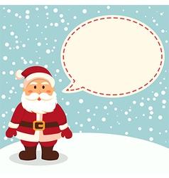 Santa Blue Notes vector image