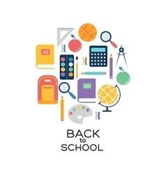 School and background vector image