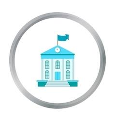 School icon cartoon Single education icon from vector