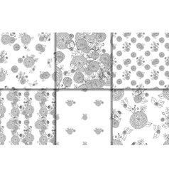 Seamless texture with asters vector image