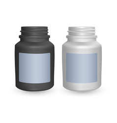set of realistic plastic bottles mock up vector image