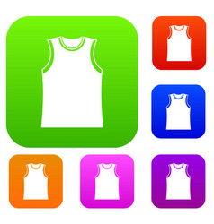singlet set collection vector image