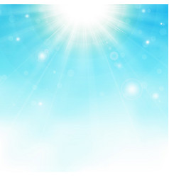sunburst center on blue sky background vector image