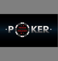 texas holdem poker vector image