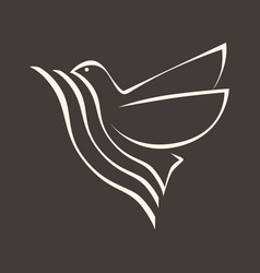 The dove the holy spirit vector