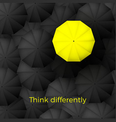 think different business concept one yellow vector image