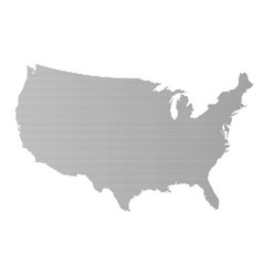 usa map halftone silhouette vector image